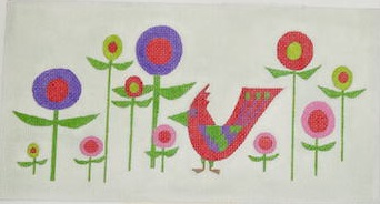 click here to view larger image of Cardinal in the Garden (hand painted canvases)