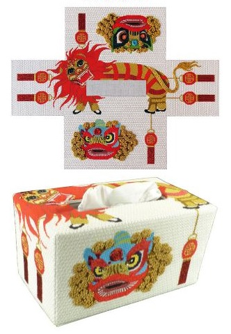 click here to view larger image of Lion Dancer Tissue Topper (Stitch Guide) (books)