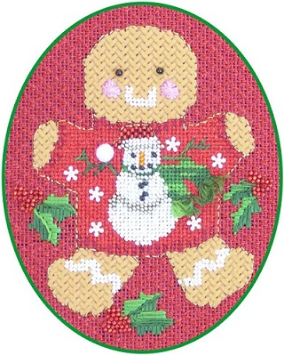 click here to view larger image of Ginger Snowman Stitch Guide (books)