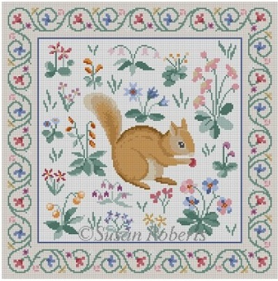 click here to view larger image of Cluny Squirrel (hand painted canvases)