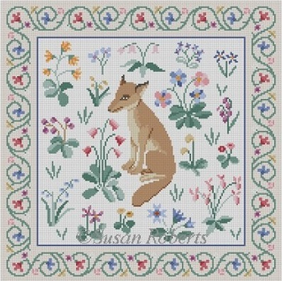 click here to view larger image of Cluny Fox (hand painted canvases)