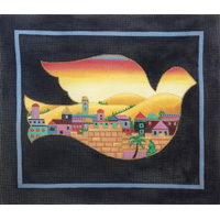 click here to view larger image of Jerusalem Dove (hand painted canvases)