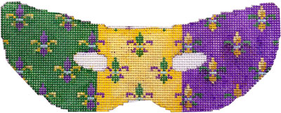 click here to view larger image of Fleur de Lis Mardi Gras Mask (hand painted canvases)