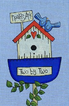 click here to view larger image of Noah's Ark Birdhouse (hand painted canvases)