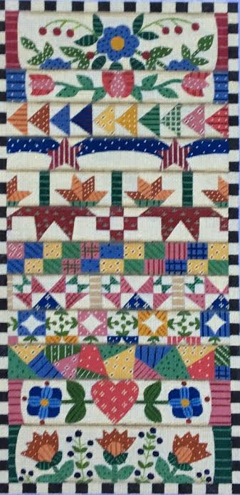 click here to view larger image of Stack of Quilts (hand painted canvases)