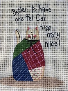 click here to view larger image of Fat Cat (hand painted canvases)