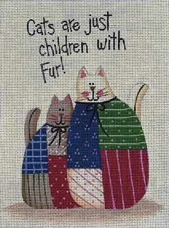 click here to view larger image of Children with Fur (hand painted canvases)