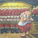 click here to view larger image of Santa's Closet - 13 Count (hand painted canvases)