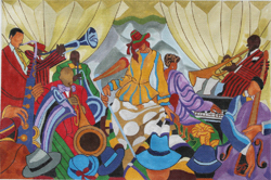 click here to view larger image of Jazz Band (hand painted canvases)