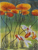 click here to view larger image of Koi Day Dreaming (hand painted canvases)