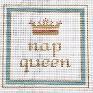 click here to view larger image of Nap Queen (hand painted canvases)