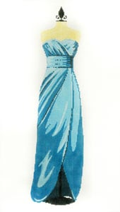 click here to view larger image of Evening Gown - Teal (hand painted canvases)