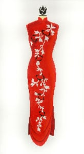 click here to view larger image of Evening Gown - Red (hand painted canvases)