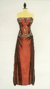 click here to view larger image of Evening Gown - Brown (hand painted canvases)