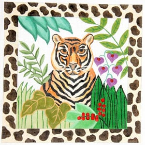 click here to view larger image of Jungle Gaze - Tiger (hand painted canvases)