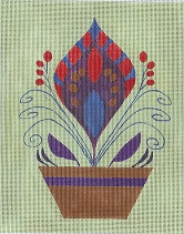 click here to view larger image of Artichoke Dish (hand painted canvases)