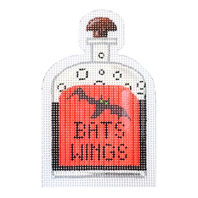 click here to view larger image of Bats Wings Halloween Bottle - 18 Count (hand painted canvases)