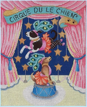click here to view larger image of Circus Dogs (hand painted canvases)