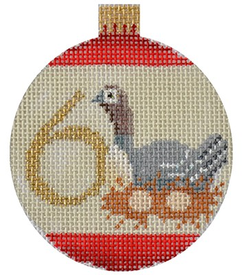 12 Days Bauble - 6 Geese hand painted canvases