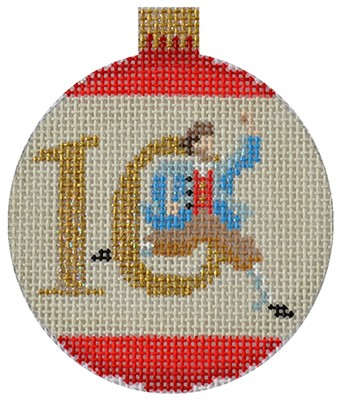 click here to view larger image of 12 Days Bauble - 10 Lords (hand painted canvases)