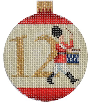 click here to view larger image of 12 Days Bauble - 12 Drummers (hand painted canvases)