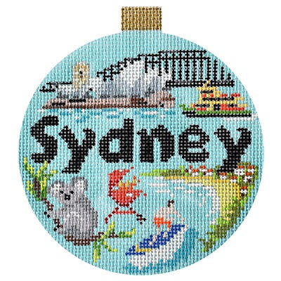 click here to view larger image of Travel Round - Sydney (hand painted canvases)