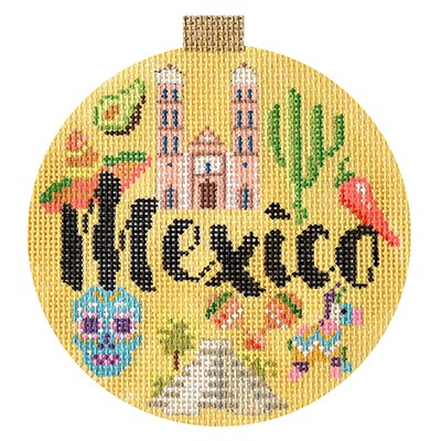 click here to view larger image of Travel Round - Mexico (hand painted canvases)