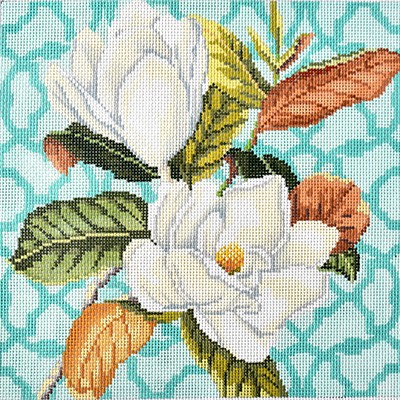 click here to view larger image of Trellis Square - Magnolia (hand painted canvases)