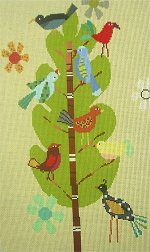 click here to view larger image of Day Birds (hand painted canvases)