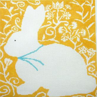click here to view larger image of Cottontail-Gold (hand painted canvases)