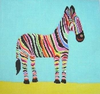 click here to view larger image of Zingy Zebra (hand painted canvases)
