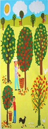 click here to view larger image of Picking Apples (hand painted canvases)
