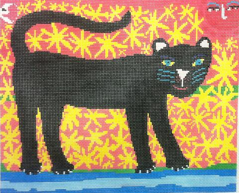 click here to view larger image of Black Panther (hand painted canvases)