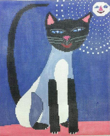 click here to view larger image of Siamese Cat (hand painted canvases)