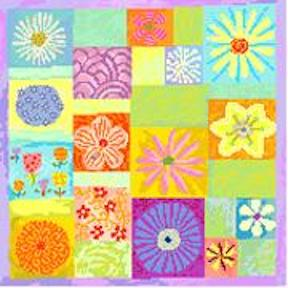 click here to view larger image of Floral Mosaic (hand painted canvases)