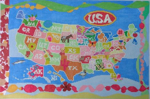 click here to view larger image of United States of Girls (hand painted canvases)