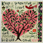 click here to view larger image of Singing Bird (hand painted canvases)
