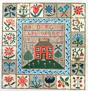 click here to view larger image of From My Garden Sampler (hand painted canvases)