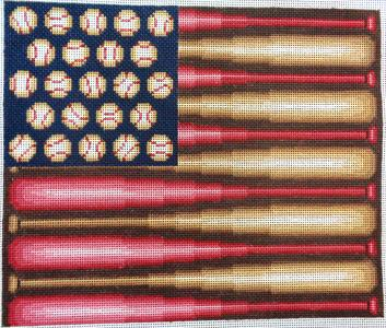 click here to view larger image of Baseball Flag (hand painted canvases)