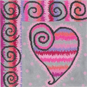 click here to view larger image of Beating Heart (hand painted canvases)