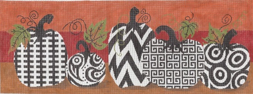 click here to view larger image of Funky Punkins - 18 Count (hand painted canvases)
