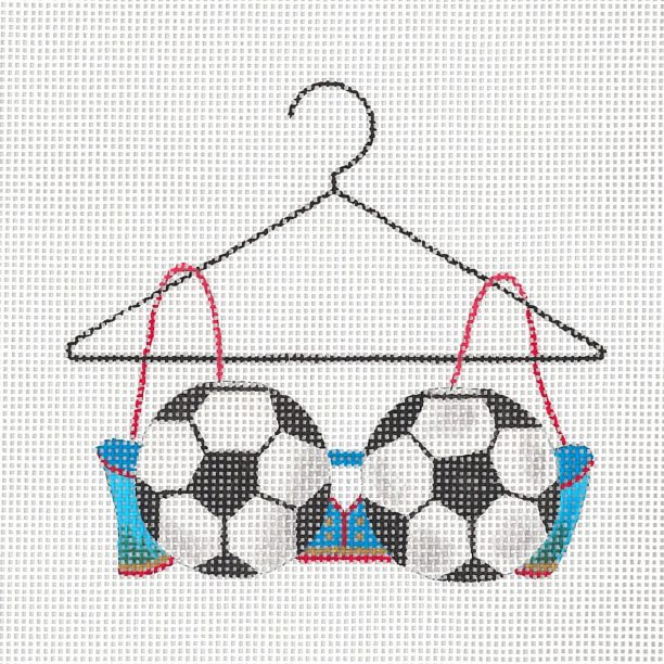 click here to view larger image of Soccer Mom Bra (hand painted canvases)