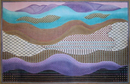 click here to view larger image of Geo Layers (hand painted canvases)
