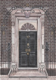 click here to view larger image of #10 Downing Street Door (hand painted canvases)