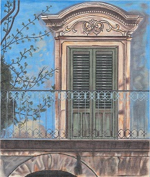 click here to view larger image of Sicily Door (hand painted canvases)