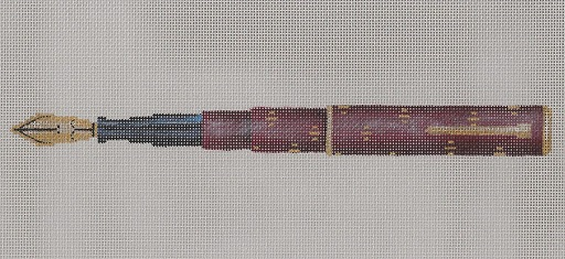 click here to view larger image of Burgundy Pen (hand painted canvases)