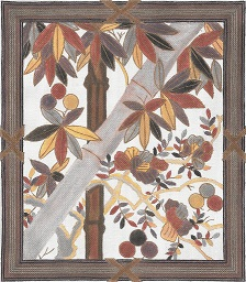 click here to view larger image of Bamboo With Border (hand painted canvases)
