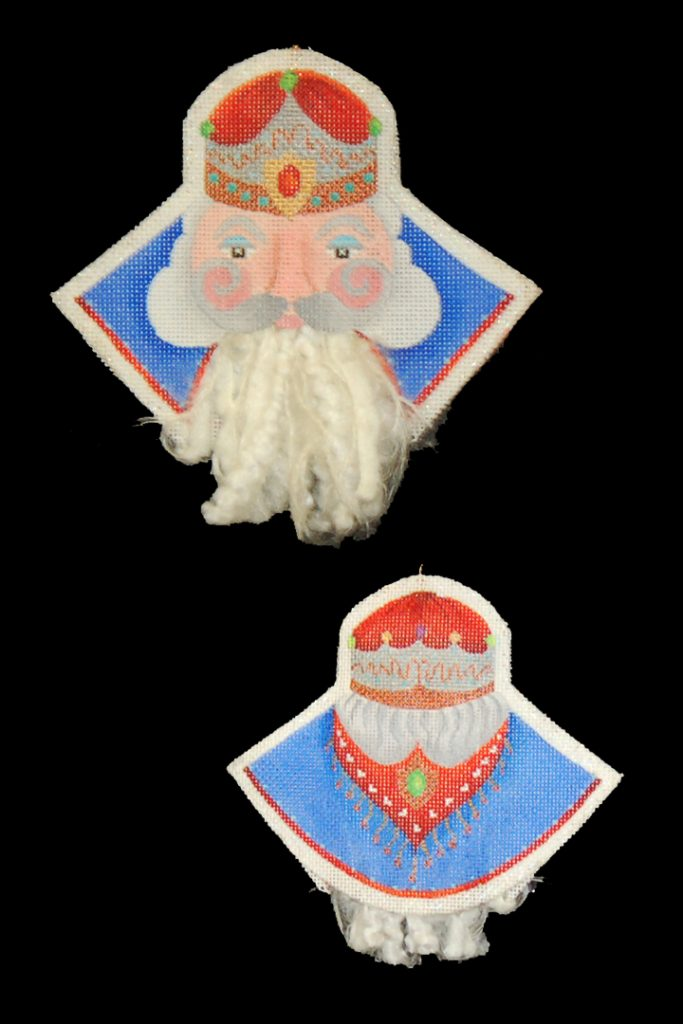 click here to view larger image of Bearded Ornament - Crown Magi (hand painted canvases)