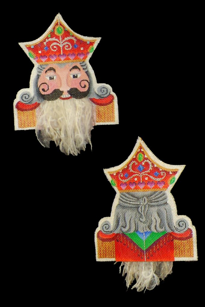 click here to view larger image of Bearded Ornament - King Of Hearts (hand painted canvases)