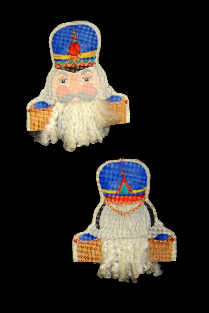 click here to view larger image of Bearded Ornament - Nutcracker (hand painted canvases)